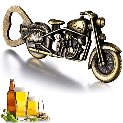 GOOKUURL Vintage Motorrad Flaschenöffner, Motorrad Bier Flaschenöffner,Metall Motorrad Flaschenöffner für Bar Party, einzigartiges Motorrad-Biergeschenk, Geschenke für Männer (Farbe Bronze)