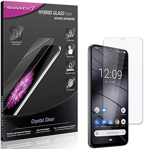 SWIDO Panzerglas Schutzfolie kompatibel mit Gigaset GS290 Bildschirmschutz-Folie & Glas = biegsames HYBRIDGLAS, splitterfrei, Anti-Fingerprint KLAR - HD-Clear