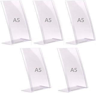 'Incassable' Lot de 5 x A5 Présentoirs de table incliné - PVC flexible Poids léger - 100% recyclable…