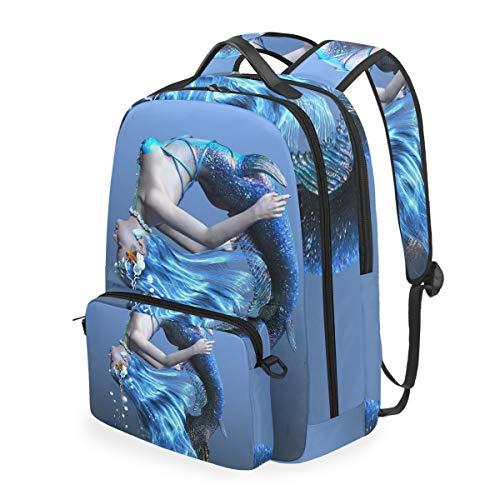 FANTAZIO Mochilas 3D CG representación de un patrón de sirena con bolsa cruzada desmontable.