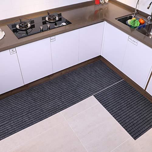 QQJL Alfombra de cocina de color puro, antifatiga, antideslizante, absorbente, cómoda, pasillo, entrada, baño, sala de estar, dormitorio, 5,31.4 x 39.37
