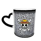 One Piece Logo Anime Tazza magica in ceramica cambia colore tazza di caffè Sky tazza tazza di tè personalizzata stampa 3D tazze che cambiano calore, perfetto per anniversario.
