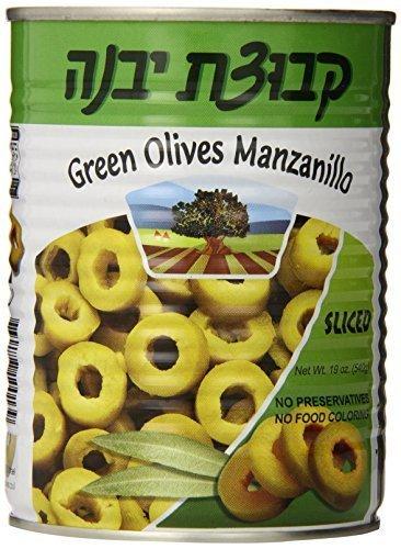 quality assurance Kvuzat Yavne Green Olives Max 81% OFF Manzanillo Sliced 19 Oz. Pack 3. Of