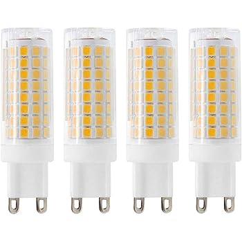 5 Pack G9 LED Light Bulb 7W Equivalent to 60W Halogen Bulbs G9 Bi-Pin Base Warm White 3000K G9 LED Bulbs AC 110V 120V 130V