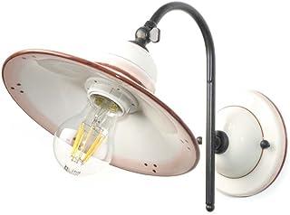 VANNI LAMPADARI - Lampada Da Parete art.001/370 In Ceramica Decorata A Mano Disponibile In 5 Finiture E Metallo Antracite