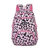 Tinytot Designer Hi Storage School Backpack School Bag for Girls (Black) 26 L