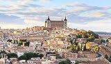 SHILIHOME Casco Antiguo en Toledo España DIY 5D Pintura de Diamante por número Kits únicos Decoración de Pared para el hogar Decoración de Pared de Diamantes de imitación de Cristal Punto de Cruz