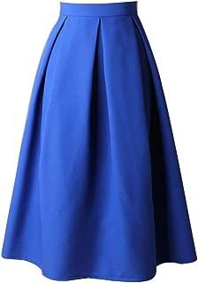 BOOB-88 Womens Dresses, Women High Waist Flared Skirt Pleated Skirt A Line Street Skirt Full Midi Skirt