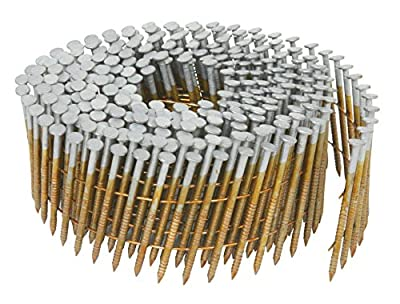 Hitachi 13367 2-1/4-Inch x 0.092-Inch Full Round-Head Ring Shank Hot-Dipped Galvanized Wire Coil Siding Nails, 3600-Pack by Koki Holdings America, Ltd