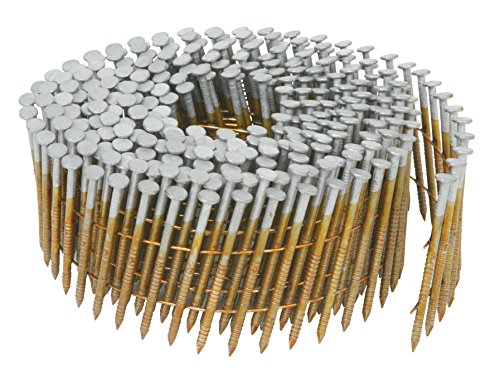 Hitachi 13367 2-1/4-Inch x 0.092-Inch Full Round-Head Ring Shank Hot-Dipped Galvanized Wire Coil Siding Nails, 3600-Pack