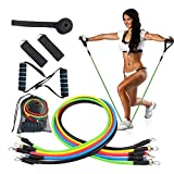 XTDGN 11pcs Gewicht Übung Fitness-Widerstand-Bänder Set - stapelbare Elastic Band Fitnesstraining...