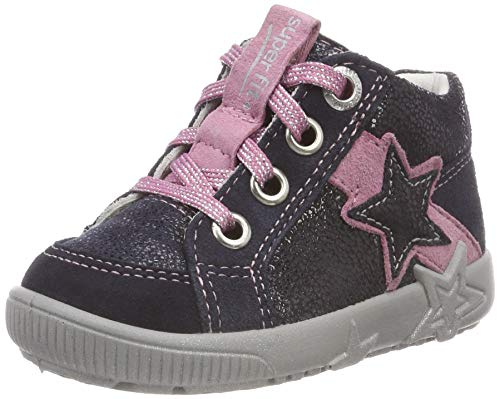 Superfit Baby Mädchen Starlight Sneaker, Blau (Blau/Rosa 80), 20 EU