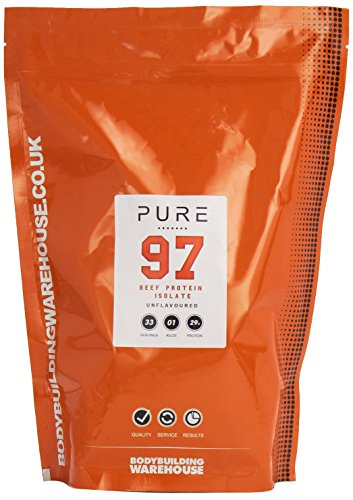 Bodybuilding Warehouse Pure Beef Protein Isolate 97 / Unflavoured (1kg)