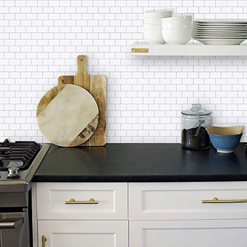 Upgraded, STICKGOO 10-Sheet Peel and Stick Subway Tile Backsplash, 13