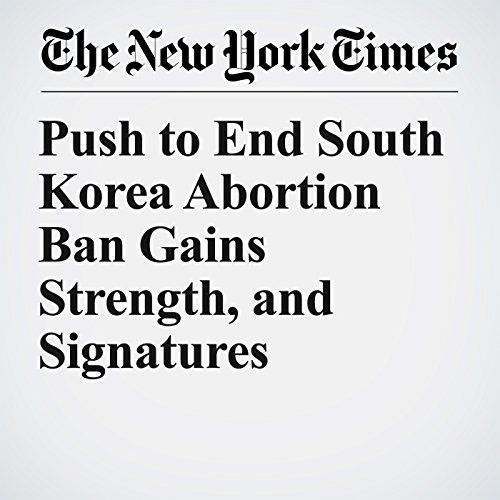 Push to End South Korea Abortion Ban Gains Strength, and Signatures copertina