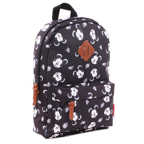 Mickey [Q1230] - Mochila creativa 'Mickey' negro blanco - 34x23x13 cm.
