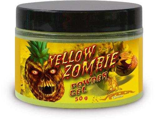 Quantum Radical Grundfutter und Köder Pulver 50g Yellow Zombie Neon Puder, Mehrfarbig