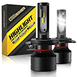 H4 LED Bulb, CAR ROVER 100W High Power 20,000LM Extremely Bright 6000K CSP Chips 9003 Conversion Kit Adjustable Beam, Replacement High Low Fog Light