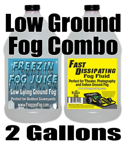 Froggys Fog - Indoor & Outdoor Ground Fog Fluid Combo - 2 Gallons