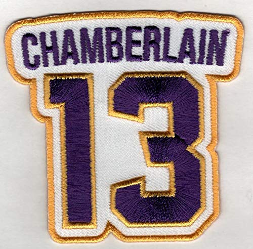 WILT CHAMBERLAIN No. 13 Patch - Jersey Number Basketball Sew or Iron-On Embroidered Patch 3 x 2 3/4'