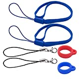 2PCS Anti-lost Ring Holder Multipurpose Carrying Kit for 0.55' Similar Devices, 2PCS Hand Lanyard Necklace + 2PCS Lobster Clasp + 2PCS Random Color Silicone Rings