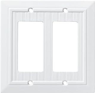 Franklin Brass W35272-PW-C Classic Beadboard Double Decorator Wall Plate/Switch..