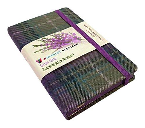 Waverley S.T. (M): Heather Pocket Genuine Tartan Cloth Commonplace Notebook (Waverley Scotland Tartan Cloth Notebooks)