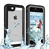 iPhone 5/5S Waterproof Case, Re-sport Shockproof Dustproof Full-Sealed Protective Underwater Phone Case Cover with IP68 Certificated Compatible with iPhone 5 5S SE 2016 (Black)