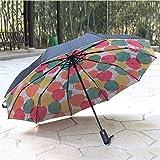Gran Paraguas de Negocios Sombrilla Doble 10 Bone Paraguas a Prueba de Viento automático Paraguas Plegable de Coches de Lujo (Color : Maple Leaf, tamaño : Large)