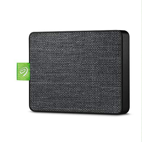 Seagate Ultra Touch SSD 1 To, SSD externe portable, noir, USB-C et USB 3.0, pour PC et Mac, Abonnement de 4 mois à la formule Adobe Creative Cloud, services Rescue valables 3 ans (STJW1000401)