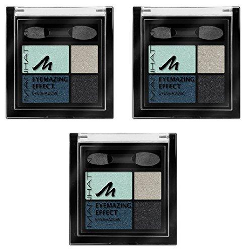 Manhattan Eyemazing Effect Eyeshadow – Schmink-Palette aus vier schimmernden Lidschatten-Farben für Smokey Eyes – Farbe Pool Party 78K – 1 x 5g