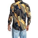 Camisa de Manga Larga para Hombre Camisa de Manga Larga con Estampado Personalizado de Solapa de Caballero de Primavera y Verano XXL