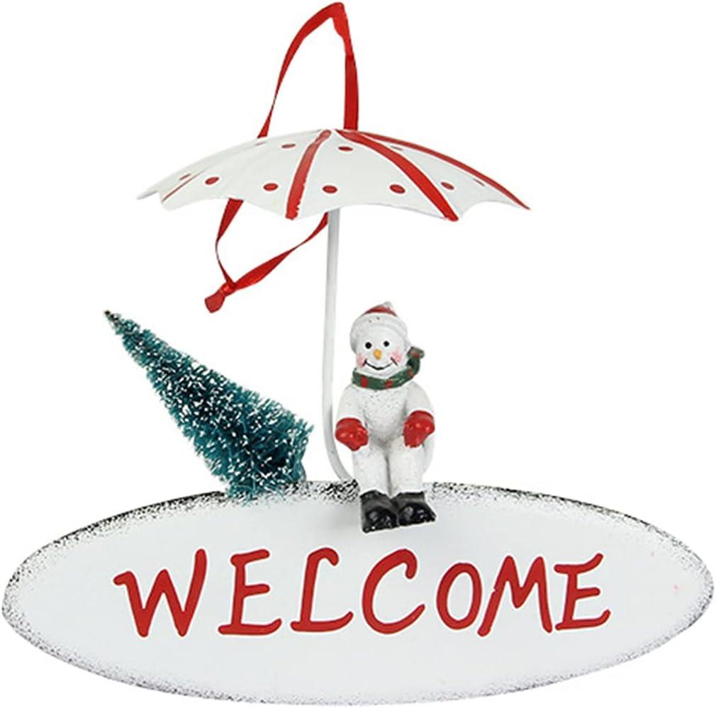 SGKJ Elk Snowman Christmas Decorations Indoor Cash special Ranking TOP11 price Umbrella Iron Craf