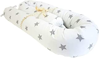 MJL Cot Bumper 25.6 x 4 inch, Cotton Baby Crib Bumper with Removable Cover, Soft Cot Cushion Pillow for Boys Girls, Baby C...