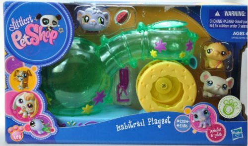 Littlest Pet Shop - EXCLUSIVE - 24982 - Habitrail Playset - SUPER Spielplatz-Haus - incl. 3 Tiere - Meerschweinchen #1754 & Hamster #1755 & Maus #1756