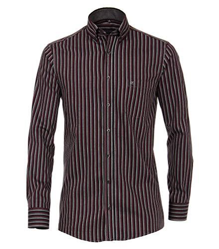 Casa Moda Hemd Comfort Fit Button Down Kragen rot/grau 483090800 400