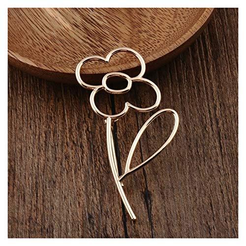 MWQCEW Personalizado Aleación de Oro de Corea Flor vacío Broche de joyería de Alta Gama Accesorios de la Boda Chaqueta de Punto Bufanda Hebilla de la Solapa de la Moda Pin para decoración de Ropa