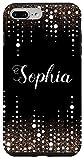 iPhone 7 Plus/8 Plus Sophia Name Elegant Dripping Rain Design Black and White Case