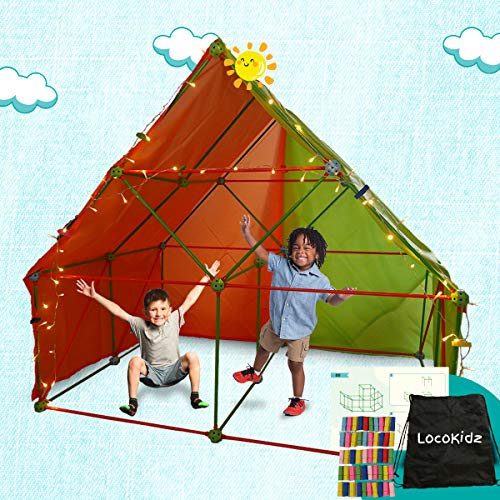 Fort Building Kit for Kids | Build Indoor Blanket Forts with The Ultimate Fort Builder | Large 386 Pieces Fort Magic Building Set | Coolest Ever Fantasy Fort Construction Toy for Boys and Girls