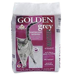 pet-earth Golden Grey Master Katzenstreu mit Babypuderduft 2x14kg 3