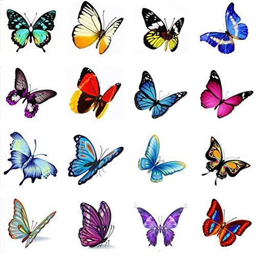 Stickers hommes et des tatouages temporaires Femmes Waterproof Papillon-A388
