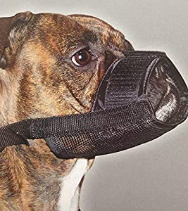 Muselière de sécurité pour chien réglable en nylon pour chien chiot Taille M anti mordre aboiements Masque Visage à mâcher pour chien