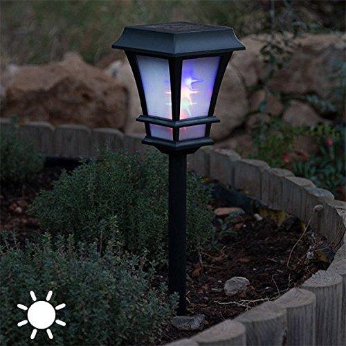 Lámpara solar exterior para el jardín. Ideal para el patio o terraza. Proporciona una magnifica iluminación exterior.Decoración. 4 LED + BATERIA