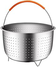 Steamer Basket for 6 Quart Instant Pot Pressure Cooker, Sturdy Stainless Steel Steamer Insert with Silicone Covered Handle...