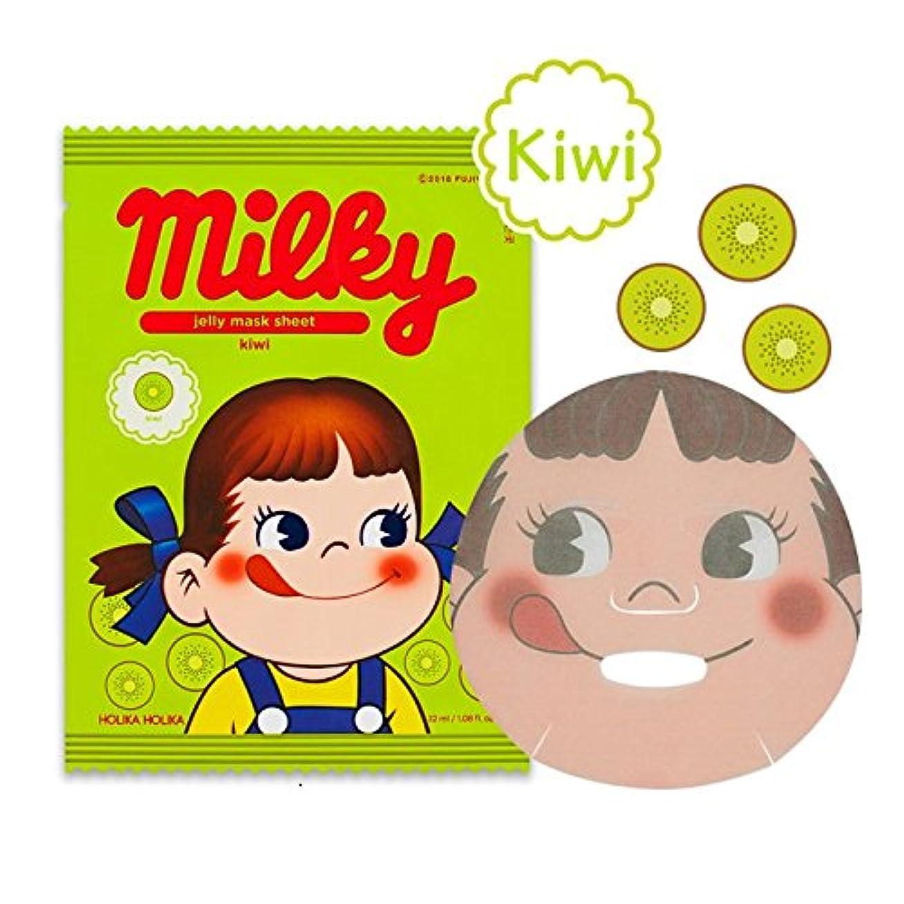 フラフープ底居心地の良いHolika Holika [Sweet Peko Edition] Peko Pure Essence Jelly Mask Sheet - Kiwi 3EA/ホリカホリカ [スイートペコエディション]ペコちゃんピュアエッセンスゼリーマスクシート 3枚 (キウイ) [並行輸入品]