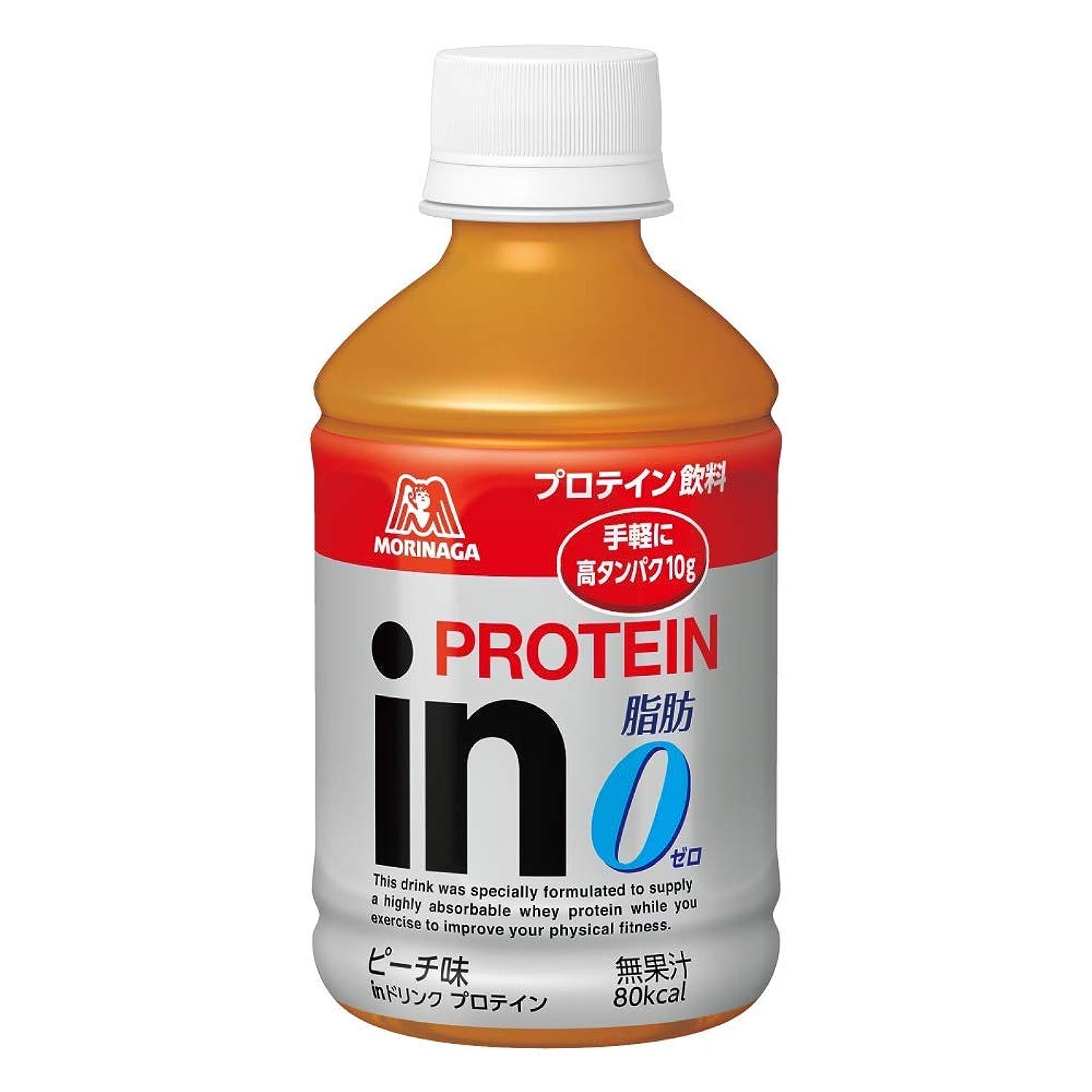 本能放映補正inドリンク プロテイン ピーチ味 (24本入×1箱) 1本280ml 高タンパク10g 脂肪ゼロ クエン酸配合 80kcal 常温保存可