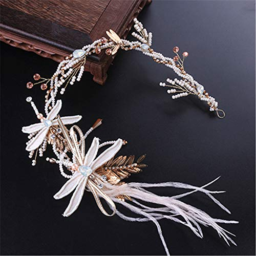 Bruid bruiloft tiara fee jurk haar hoepels Sen lijn haar accessoires bruiloft studio accessoires