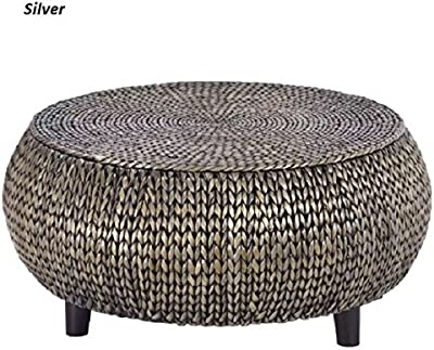 294b33d5f669 Round Breeze Coffee Table With Storage Area Side Table With Décor End Table  Silver Cocktail Table