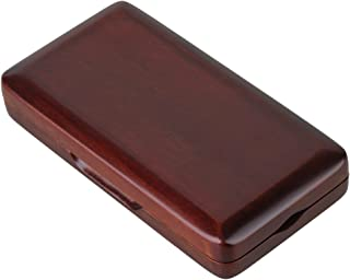 BQLZR Maroon Wooden Oboe Reed Case with Smooth Spray Lacquer Surface for 3pcs Oboe Reeds