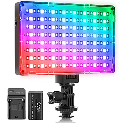 GVM RGB Video Light with APP Control,...